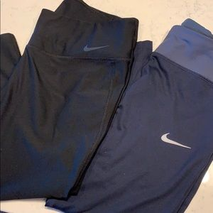 Two pairs Nike Capri Leggings